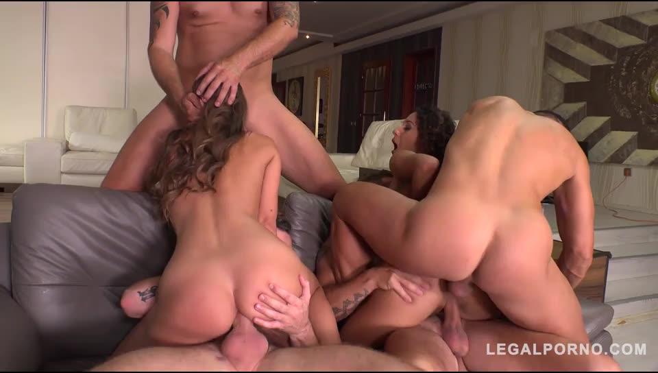 [LegalPorno] Big Booty Anal Nymphos get Rocked by 4 Big Cocks - Liz Revamped, Amirah Adara (DP)/(Natural Tits)