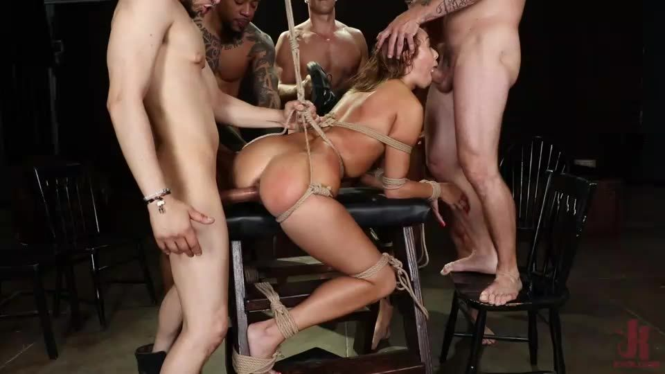 Christy Love Attends Sex Addiction Group and Gets Stuffed! (BoundGangBangs / Kink) Cover Image