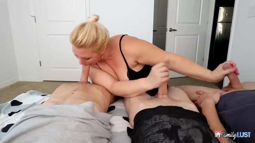 Step Moms Birthday Gangbang (FamilyLust) Screenshot 7