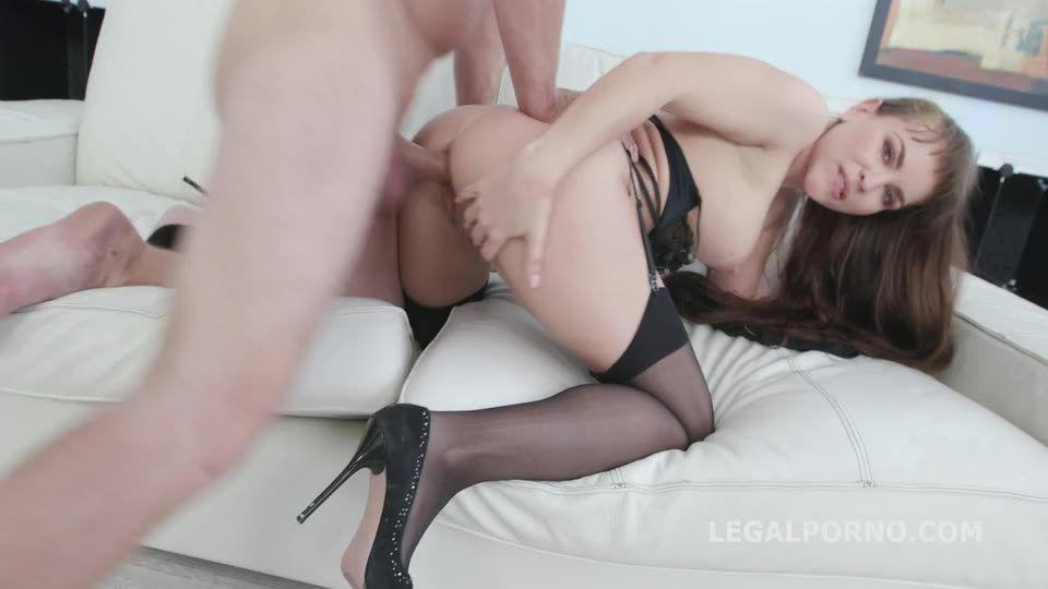 first DAP with Balls Deep Anal, DP, Gapes, Cum in Mouth (LegalPorno) Screenshot 6