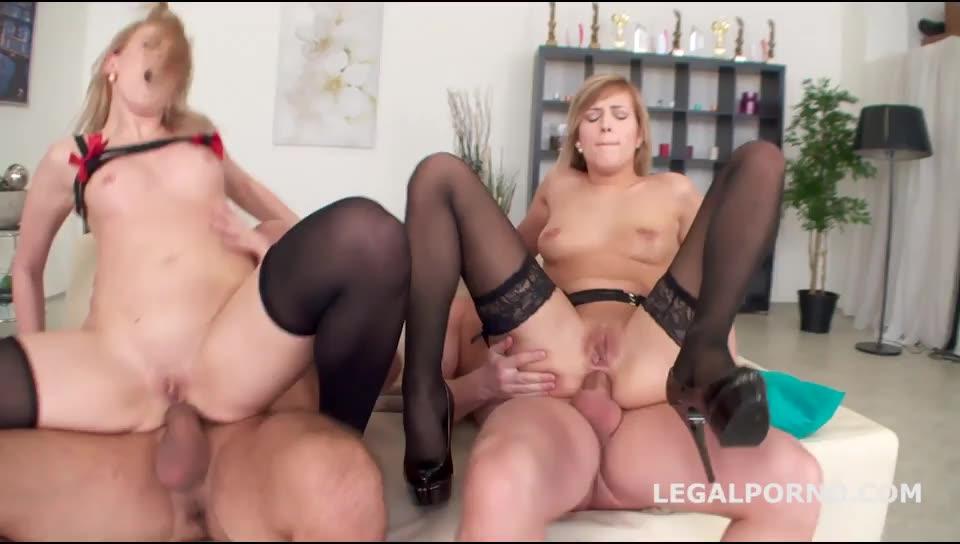 ATM & DAP. Anal challenge with DAP, deepthroat, slapping, manhandling, gapes and Ass-Licking (LegalPorno) Screenshot 5