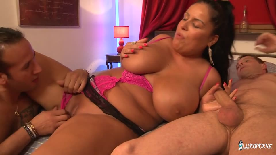 Two Studs Fuck Busty and Curvy Brunette for Amateur French Porn Tape (LaCochonne / PornDoePremium) Screenshot 2