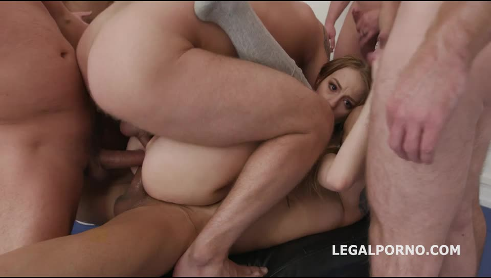 [LegalPorno] ANAL, DAP, TP gangbang with Big Gapes and 10 Swallows - Kira Thorn (GangBang)/(Blonde)