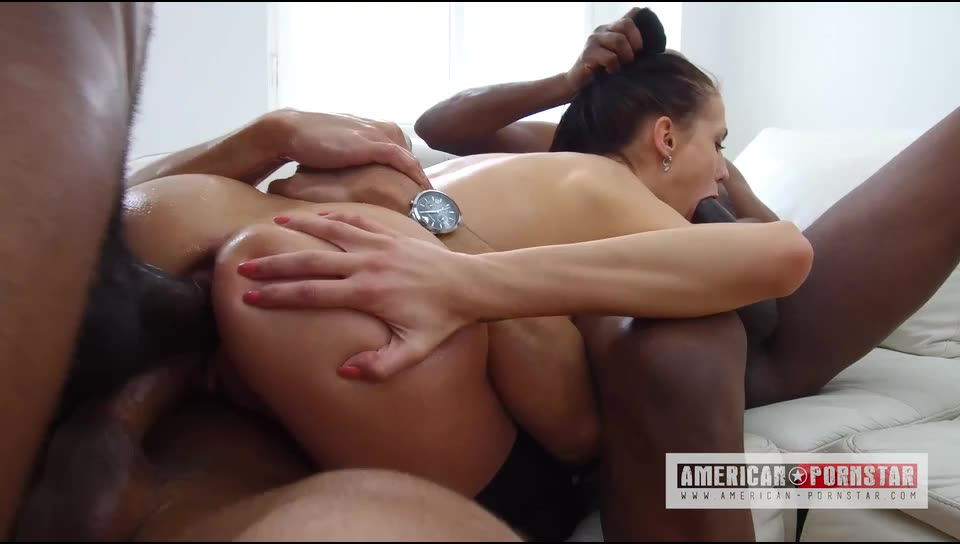 [American-Pornstar] 19 Year Old Nicole Love Loves Double Anal - Nicole Love (DAP)/(Interracial)