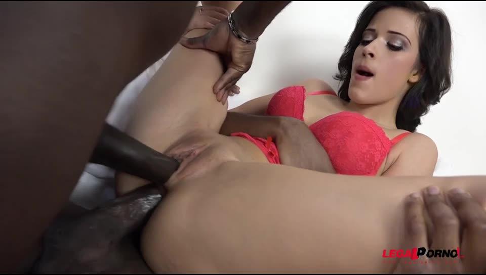 Ria Sunn gets both holes filled. Interracial DP and DAP (LegalPorno) Screenshot 8