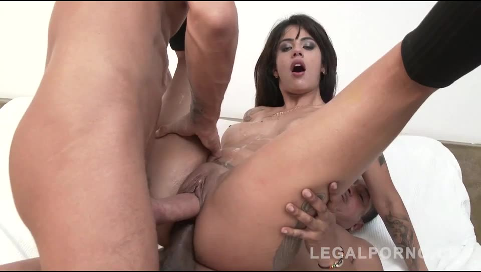 [LegalPorno] Anal threesome with balls deep DP - Shayenne Samara (DP)/(High Heels)