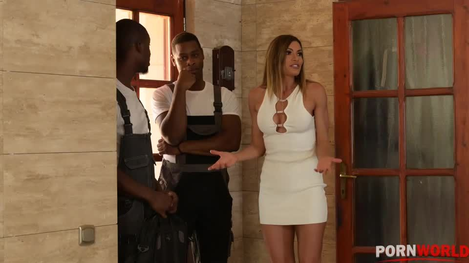 2 Black Moving Guys DP Newly Single MILF in Ex-Husbands Home GP2056 (PornWorld) Screenshot 0