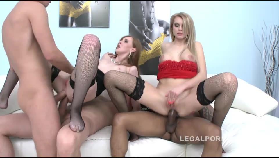 [LegalPorno] Hardcore sluts double anal (DAP) with 3 guys - Linda Sweet, Karina Grand (DAP)/(Redhead)