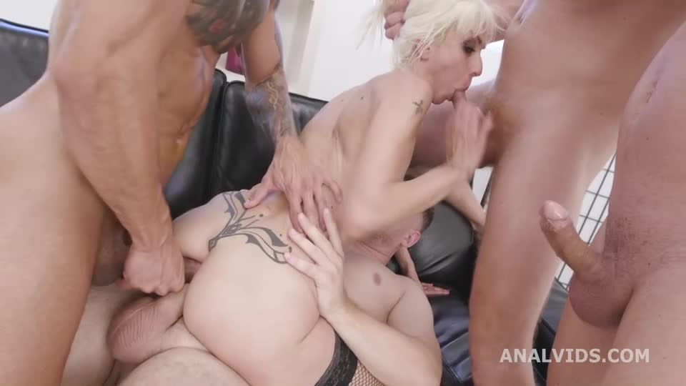 Basined, Balls Deep Anal, DAP, Gapes, Pee Drink, Creampie and Swallow (LegalPorno / AnalVids) Screenshot 3