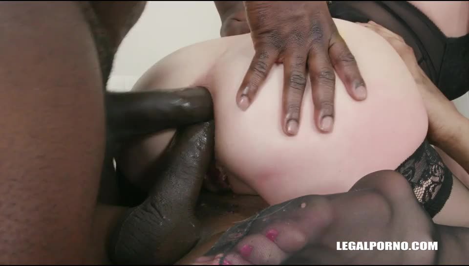 [LegalPorno] Balls deep double anal with 8 black guys - Rebecca Black (GangBang)/(Interracial)