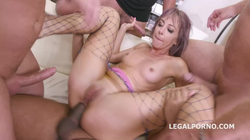 Caged, rough fucking with Balls Deep Anal, Squirt Drink, DAP, Manhandle, Creampie Cocktail (LegalPorno) Cover Image