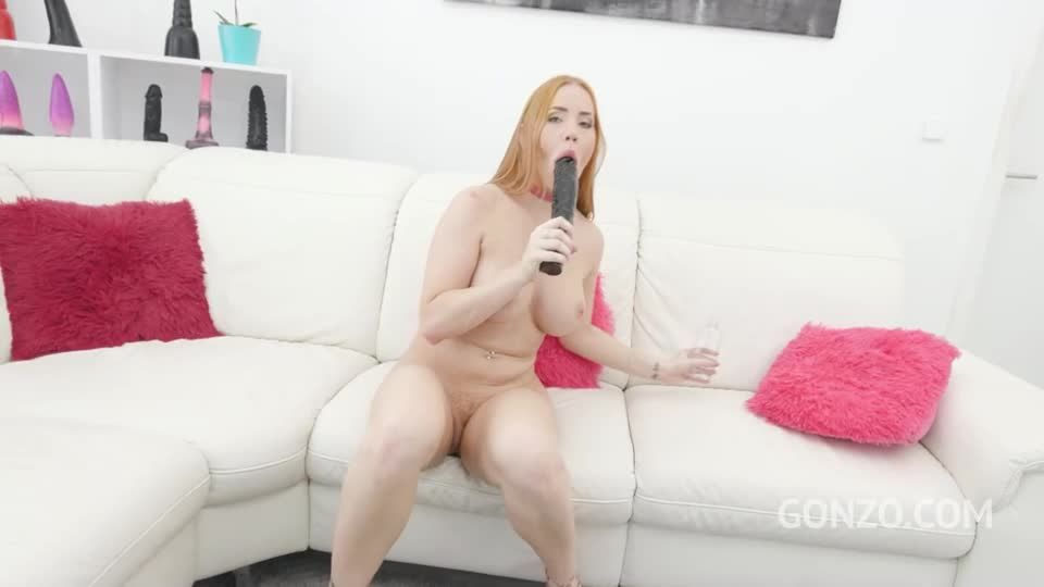 First time to Gonzo for her first hardcore experience with Airtight DP (LegalPorno / AnalVids / Gonzo) Screenshot 2