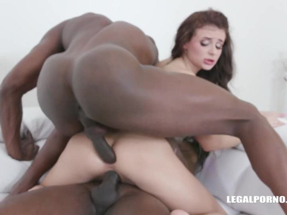 Two black cocks in the ass (LegalPorno) Screenshot 0