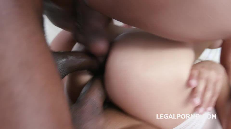 Insane interracial TAP with BBC Balls Deep Anal, Big Gapes, Creampie and Facial (LegalPorno) Screenshot 5