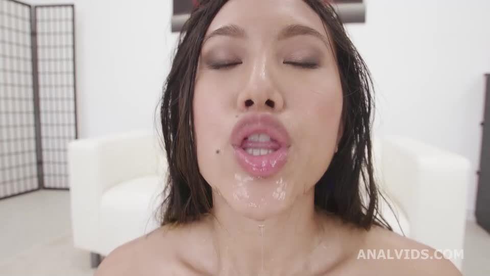 Fucking Wet, Balls Deep Anal, DP, Gapes, Pee Drink, Swallow (LegalPorno / AnalVids) Screenshot 5