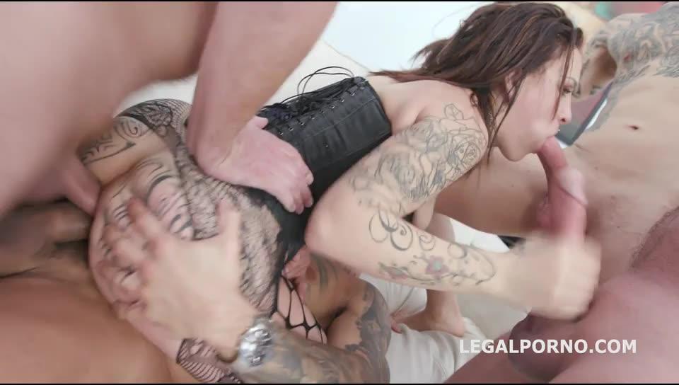 [LegalPorno] Dap Destination with Manhandle, Balls deep Anal, DAP, gapes, swallow - Natasha Ink (DAP)/(4M1F)