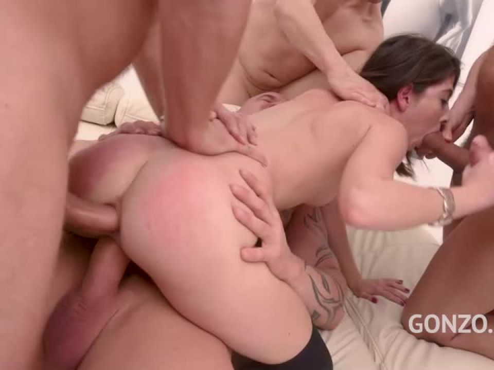 Assfucked by 1, 2, 3, 4 guys and then gangbanged by all 10 of them (LegalPorno) Screenshot 6