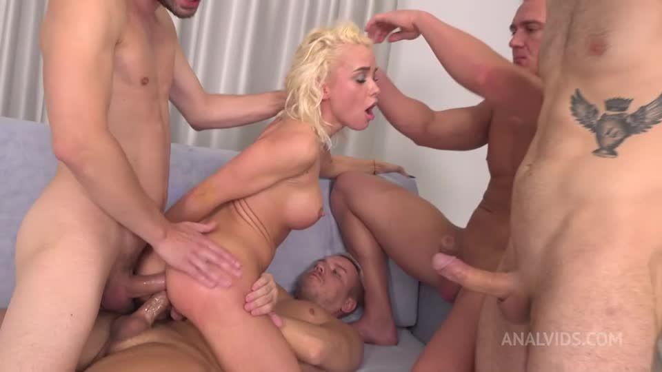 FIRST Double Anal penetration! DAP (deepthroat, balls deep, hard, spank, spit) NRX059 (LegalPorno / AnalVids) Screenshot 4