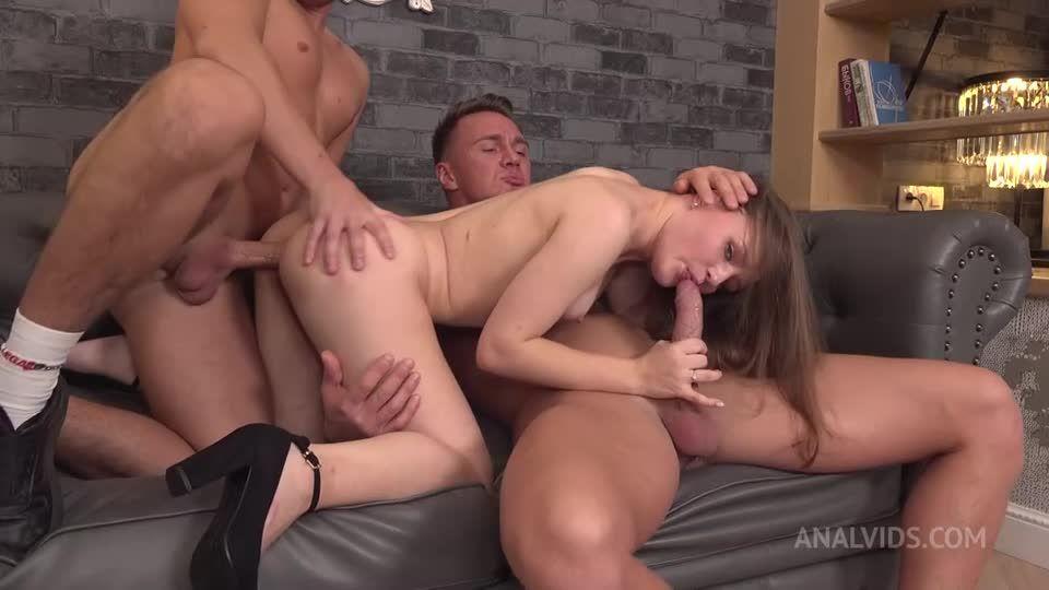 2 Hard Dicks! Deepthroat, DP, ass licking, squirt! NRX050 (LegalPorno / AnalVids) Screenshot 1