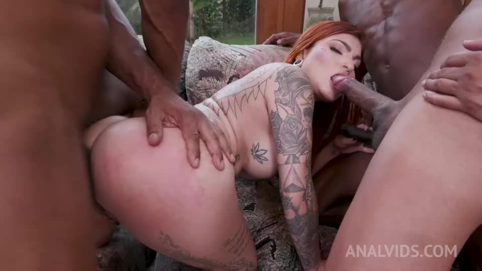 Inked latina gets interracial double penetration YE050 (LegalPorno.com / AnalVids) Screenshot 3