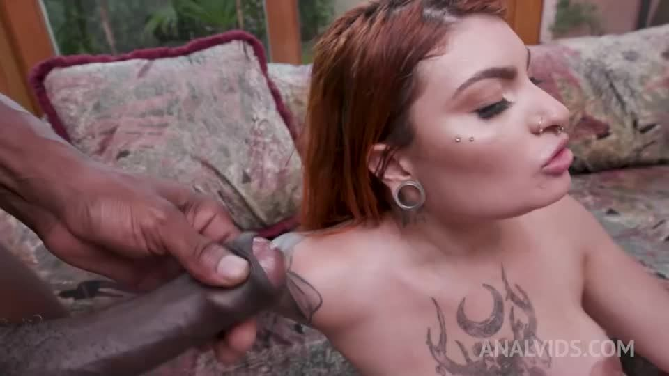 Inked latina gets interracial double penetration YE050 (LegalPorno.com / AnalVids) Screenshot 9