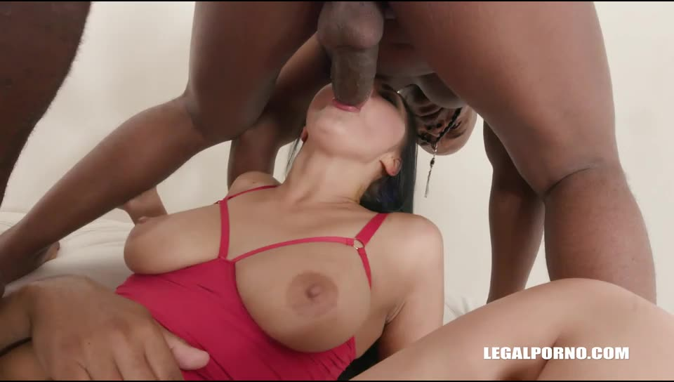 [LegalPorno] Has fun with 3 black guys & balls deep anal - Vanessa Vaughn (DAP)/(High Heels)