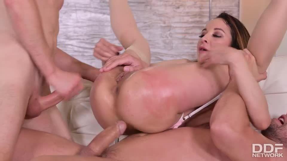 Cuck Husband Lets Neighbors DP His Nympho Wife (HandsOnHardcore / PornWorld) Screenshot 7