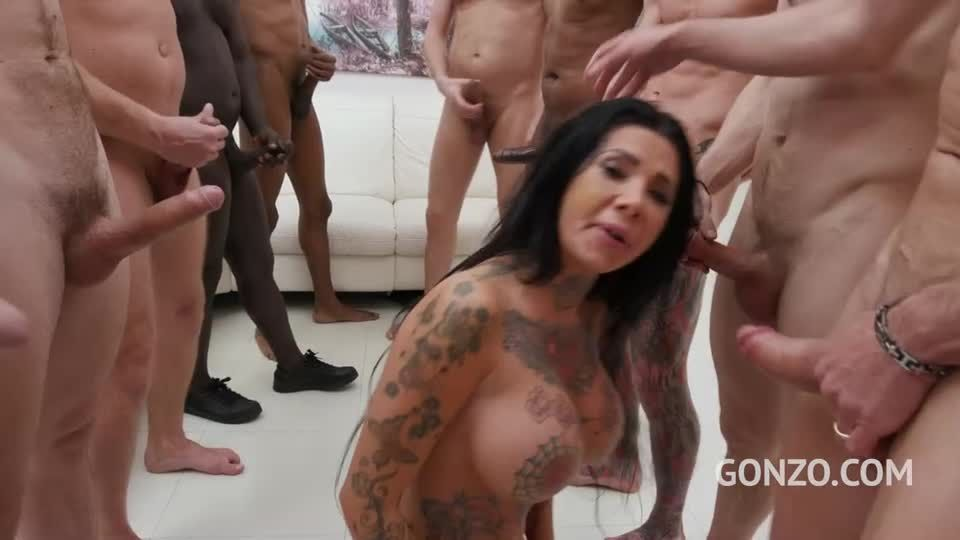 Assfucked by 1, 2, 3, 4 guys and then gangbanged by all 10 of them (LegalPorno / AnalVids / Gonzo) Screenshot 6