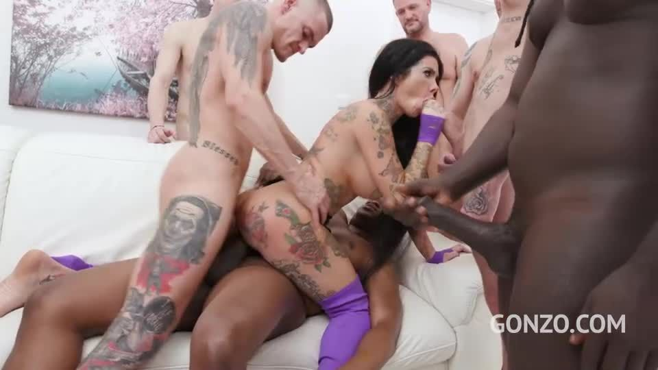 Assfucked by 1, 2, 3, 4 guys and then gangbanged by all 10 of them (LegalPorno / AnalVids / Gonzo) Screenshot 7
