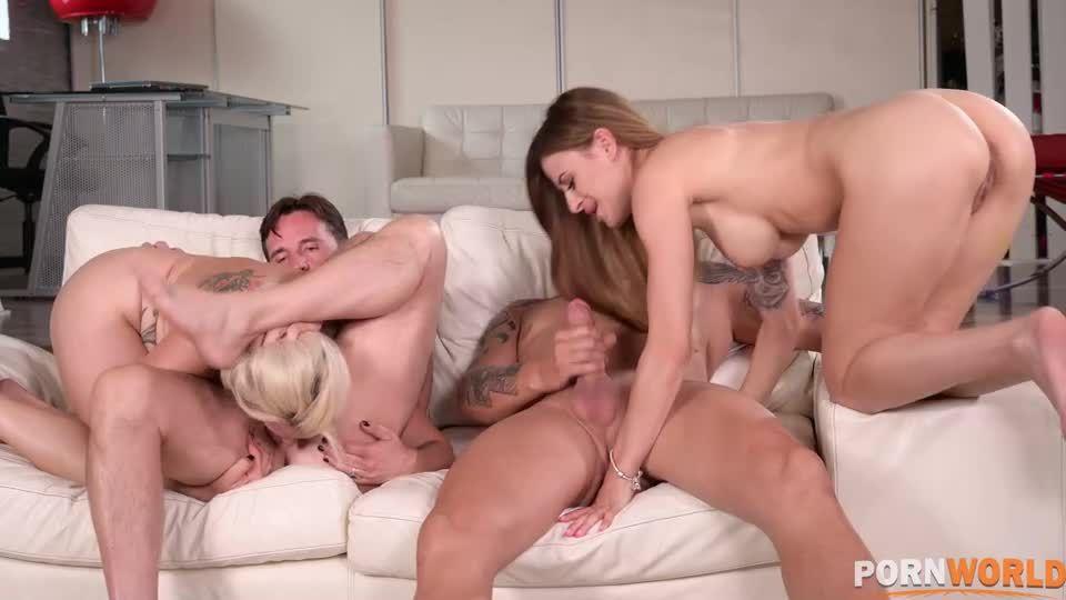 Busty MILFs DP'd in Hot Summer Poolside Orgy (HandsOnHardcore / PornWorld) Screenshot 3