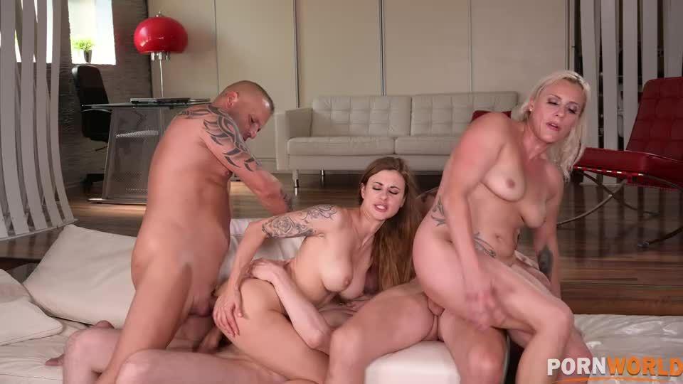 Busty MILFs DP'd in Hot Summer Poolside Orgy (HandsOnHardcore / PornWorld) Screenshot 7