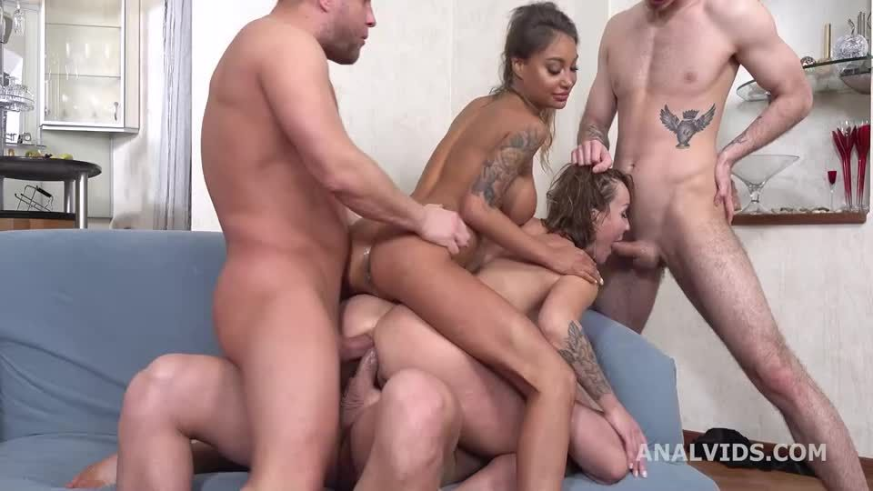 Wild Russia, Go Crazy with Balls Deep Anal, DAP, ButtRose, Squirting, Pee Drink and Swallow (LegalPorno / AnalVids) Screenshot 6