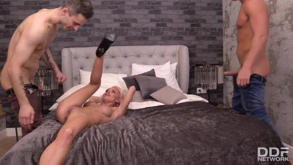Handyman & Hubby Try To Satisfy Horny Little Ukrainian Nympho (HandsOnHardcore / PornWorld) Screenshot 5