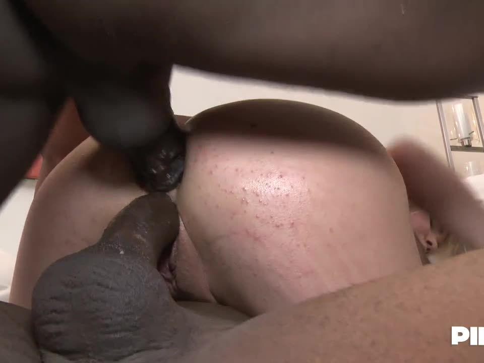 Cute Girl Takes Two Big Black Cocks Together / My First Black Teacher (PinkoClub / ElegantAngel) Screenshot 4
