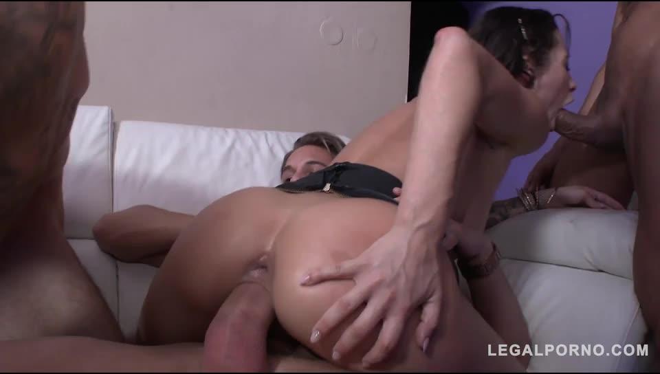 [LegalPorno] Slut punishment with DAP & DPP (double pussy) - Nikita Bellucci (GangBang)/(Natural Tits)