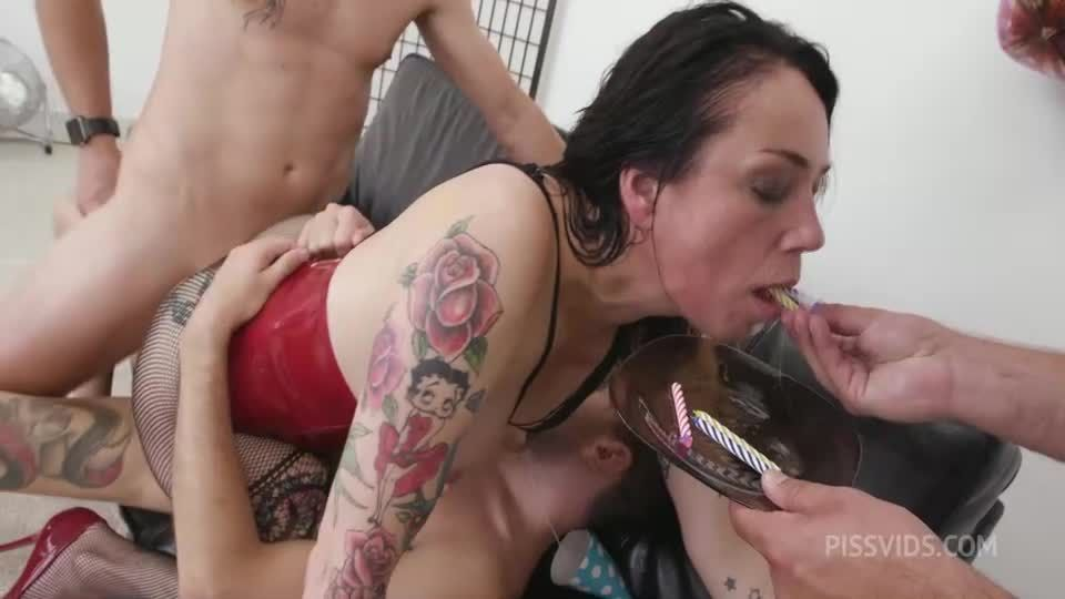 Unbreakable bday party Wet #1, Anal Fisting, DAP, Monster ButtRose, Squirt, Creampie Swallow (LegalPorno / AnalVids) Screenshot 5