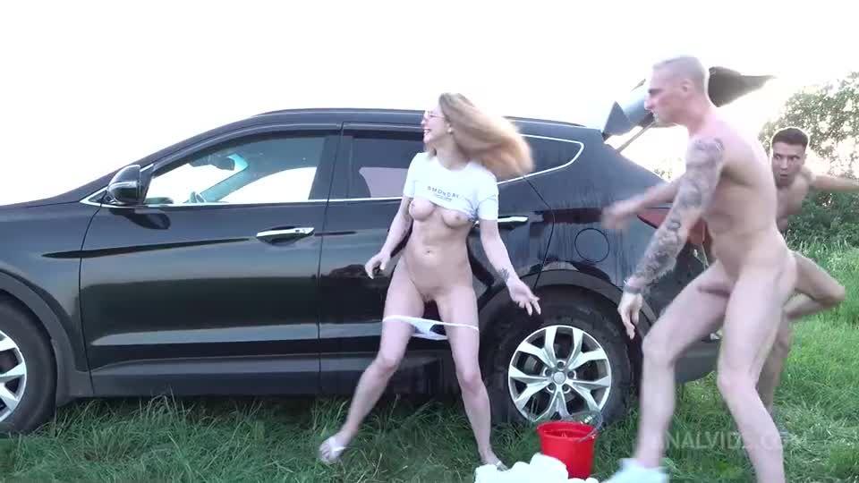 Deep Balls Anal – Hard and Fast Fucking – ATM + ATP + GAG – Summer Outdoor VK085 (LegalPorno) Screenshot 0