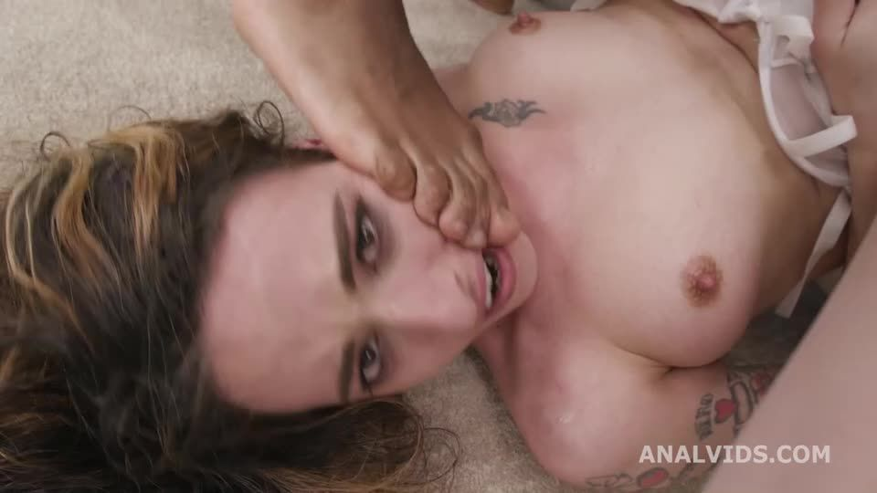 First Time Wet, 2 BBC with Balls Deep Anal, DP, Pee Drink, Gapes and Cum in Mouth (LegalPorno / AnalVids) Screenshot 8