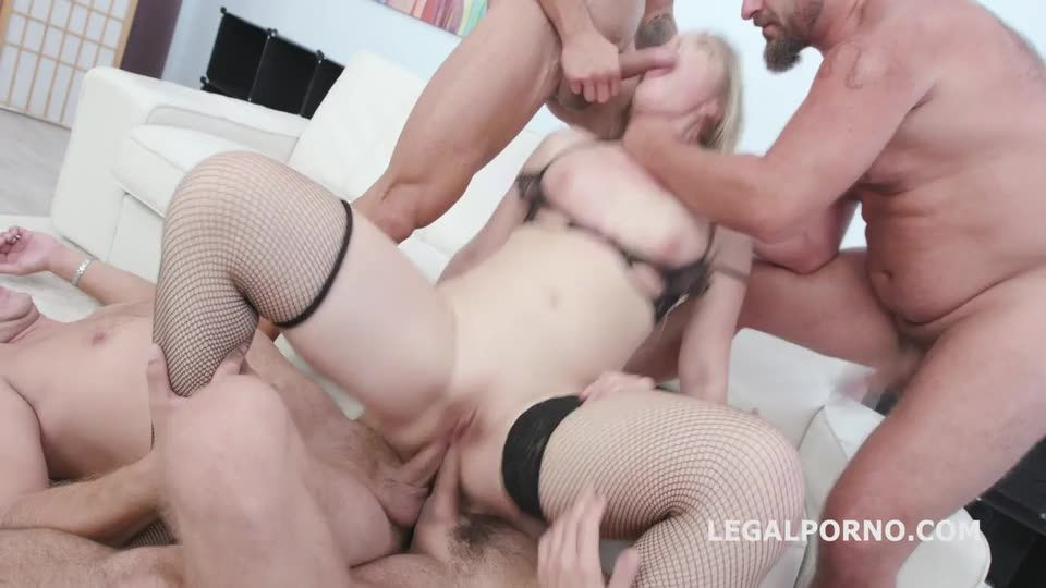[LegalPorno] Manhandle goes Rough with Balls Deep Anal, Gapes, DAP, Facial and Swallow - Selvaggia (GangBang)/(Stockings)