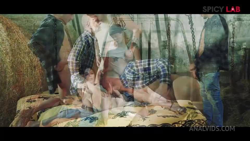 GangBang in the farm MS111 (LegalPorno / AnalVids / SpicyLab) Screenshot 1