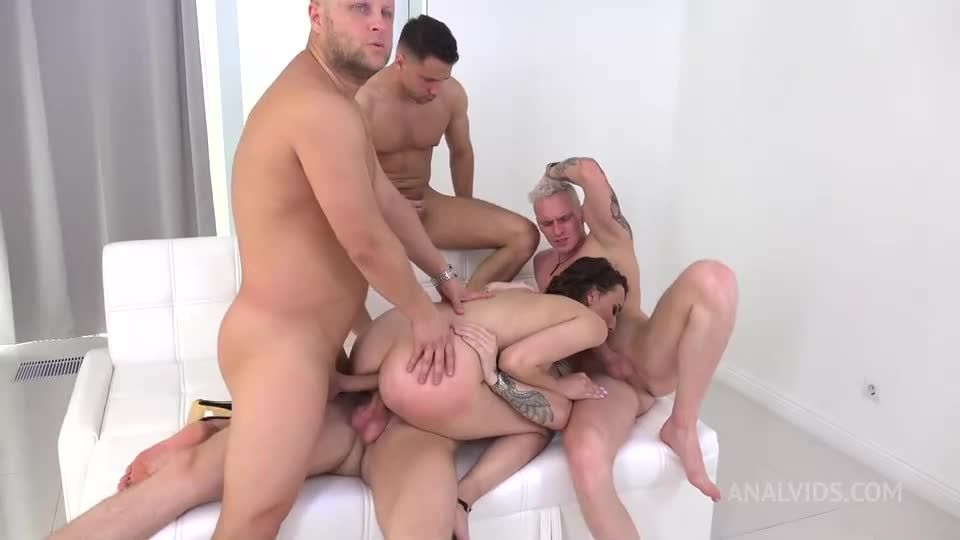 First DAP, with DP, Pee Drink, Balls Deep Anal, Gapes and Cum in Mouth VG019 (LegalPorno / AnalVids) Screenshot 3