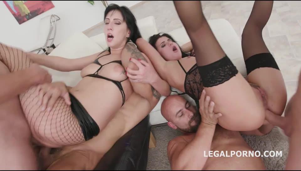 [LegalPorno] Double Addicted, Balls Deep Anal, DAP, Gapes, Creampie To Swallow - Daria Zemskaya, Nicole Black (DAP)/(Natural Tits)