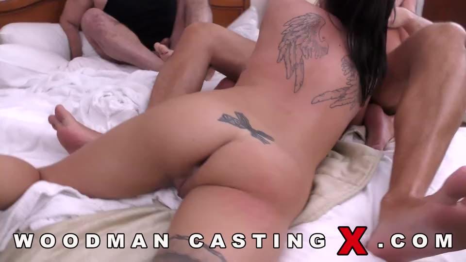 [WoodmanCastingX] Dellai Twins / Casting X 155 - Silvia Dellai, Eveline Dellai (DP)/(Tattoo)