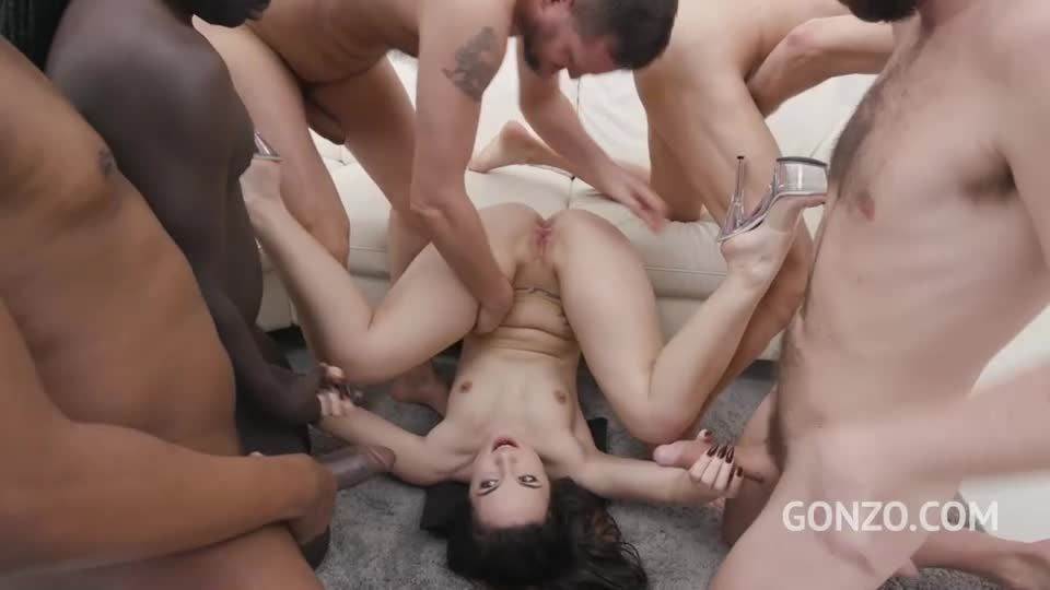 Gangbanged by 6 guys with double anal (LegalPorno) Screenshot 6