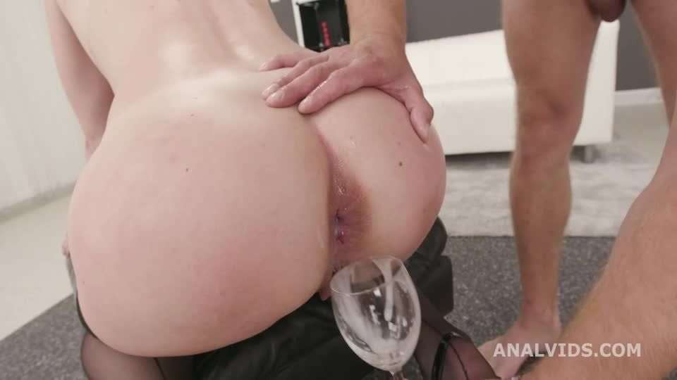 DAP Destination goes Wet, Balls Deep Anal, First DAP, Gapes, Pee Drink and Swallow (LegalPorno / AnalVids) Screenshot 9