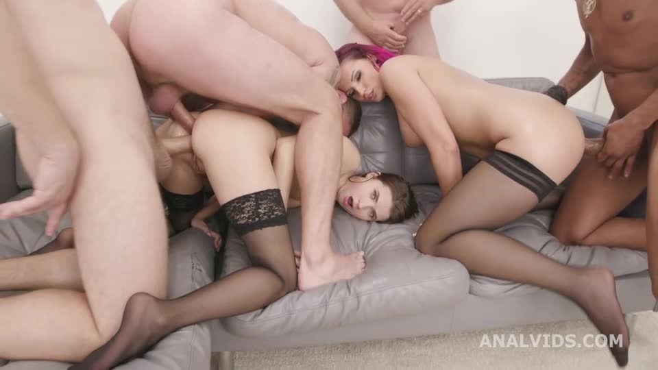 ATM Queens #2 Orgy with Monsters Gapes, Balls Deep Anal, DAP, ATOGM and Swallow (LegalPorno / AnalVids) Screenshot 1