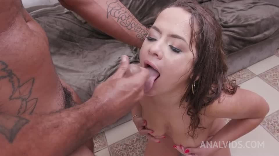 Hardcore with DP, DAP, DVP and her first Triple Penetration YE054 (LegalPorno / AnalVids) Screenshot 9