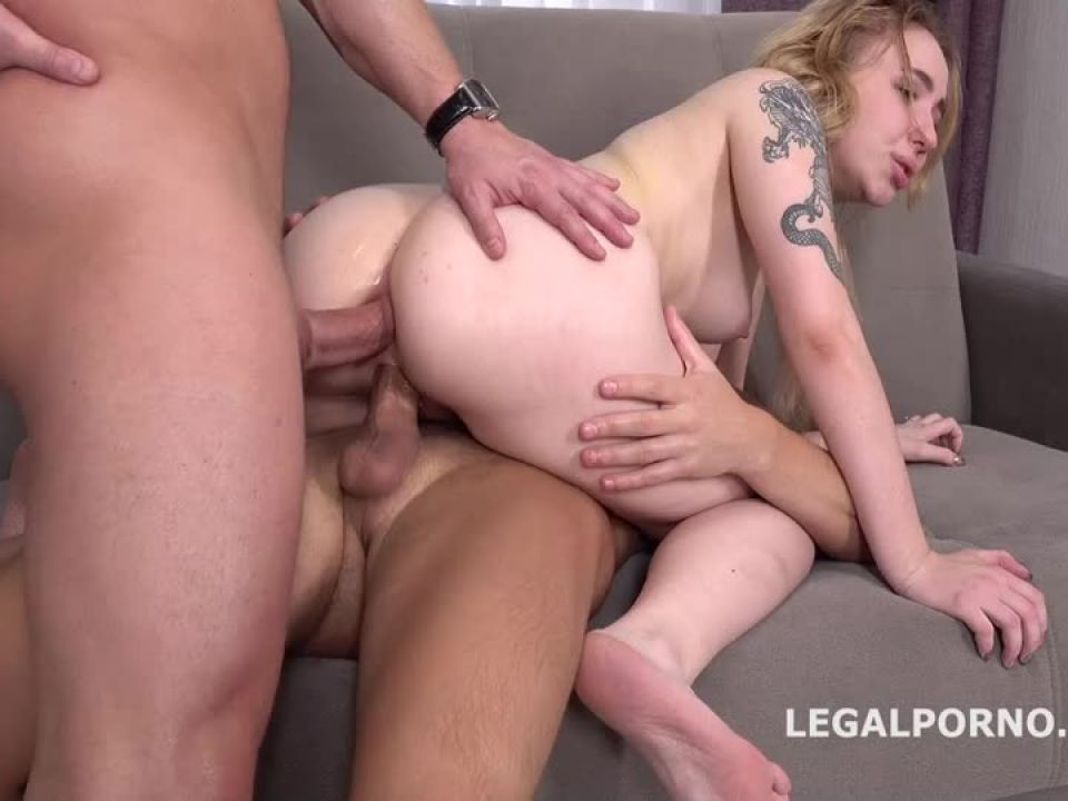 First DP with Rough Sex Balls Deep Anal and DP, Manhandle and Cum in Mouth (LegalPorno) Screenshot 1