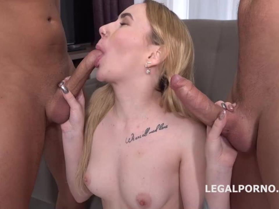 First DP with Rough Sex Balls Deep Anal and DP, Manhandle and Cum in Mouth (LegalPorno) Screenshot 3