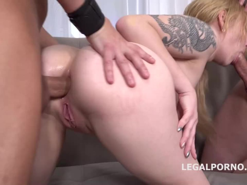 First DP with Rough Sex Balls Deep Anal and DP, Manhandle and Cum in Mouth (LegalPorno) Screenshot 5